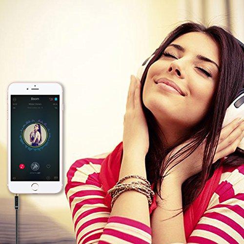 Syncwire Audio Verlängerungskabel Kopfhörer Verlängerungskabel – 3.5mm Aux Verlängerungskabel für Kopfhörer, Apple iPod iPhone iPad, Smartphones, MP3 Player – 1m Schwarz - 8