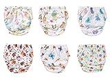 STIMMUNGSVOLLE 6er Pack Wasserdicht Baby Lernwindel Trainerhosen Unterwäsche Windeln Windelhose zum Toilettentraining Töpfchentraining (Set, 100)