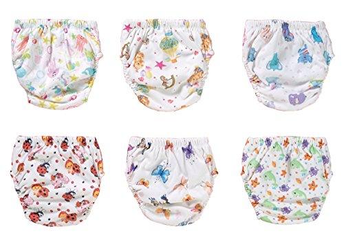 origin-AL Home & Style STIMMUNGSVOLLE 6er Pack Wasserdicht Baby Lernwindel Trainerhosen Unterwäsche Windeln Windelhose zum Toilettentraining Töpfchentraining (Set, 110)