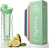 Hydracy Bottiglia con infusore per acqua aromatizzata alla frutta con esclusiva sacca isolante antitraspirante - 750ml - Senza BPA - Perfetta per depurare l'organismo, per gli sport e per le attività all'aperto - Primavera Verde