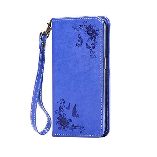 For Apple iPhone 6 Plus (5.5 inches) Flip ZeWoo® PU Leather Case Wallet Cover - HA004 / Rose (white) Rose (blue)