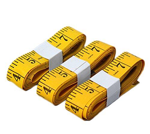 Qingsun 3 M Gelb Schneiderei Maßband Weiches Bandmaß Kleidung Messskala und Höhe mit magnetischer Spitze