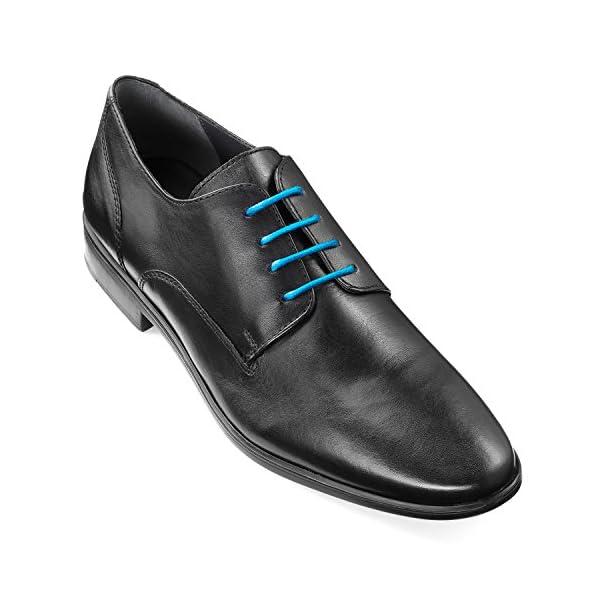resistentes al desgarro longitud 45 a 20 zapatos de ocio de 100 /% algod/ón UVM 1 par de cordones de alta calidad zapatos de piel zapatos deportivos ideales para zapatillas Mount Swiss Luxury Cordones redondos de 3 a 4 mm de di/ámetro