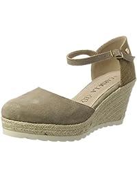 Xti Taupe Suede Ladies Shoes ., chaussures compensées femme