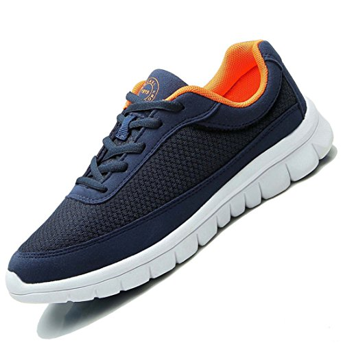 Men's Mesh Breathable Top Quality Athletic Running Shoes Blue Orange