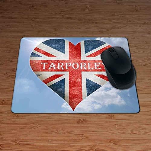 Love Tarporley Union Flag Heart Design Premium Mouse Mat - 5mm Thick