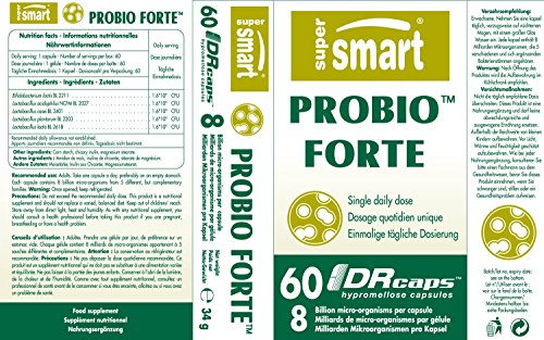 Probio Forte - 60 gél.vég. - Supersmart - Probiotiques et Prébiotiques