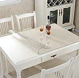 Ever Fairy Kunststoff Transparent Küche Esstisch Abdeckung Tischdecke Protector Stuhl Matte mit Lippe für harte Böden Eco-Friendly Series Stuhl Bodenschutz (90x120cm)