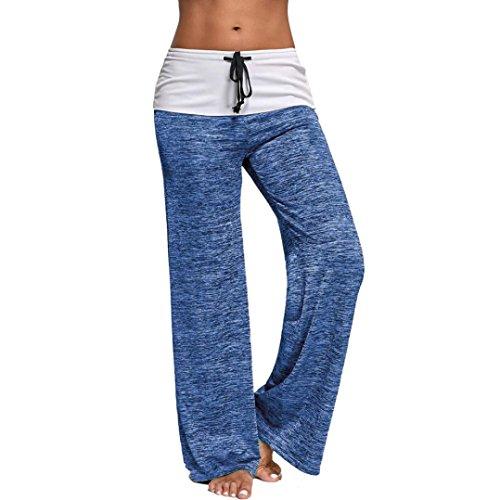 JYC - Pantalon de sport - Décontracté - Femme bleu clair