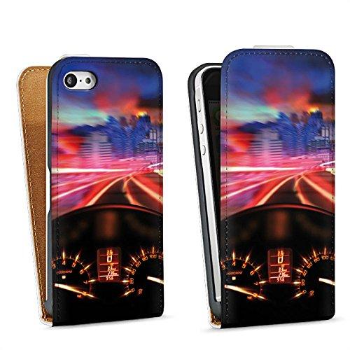 Apple iPhone 6 Housse Étui Silicone Coque Protection Moto Compteur de vitesse Rapide Sac Downflip blanc