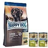 Happy Dog Canada 12.5 kg + 2 x 400 g Dosen Lamm pur + 2 x 150 g Emsländer Häppchen Lamm