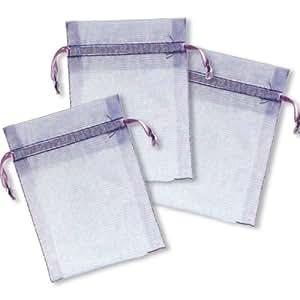 Amscan International Organza Bags, Pack of 12, Lavender