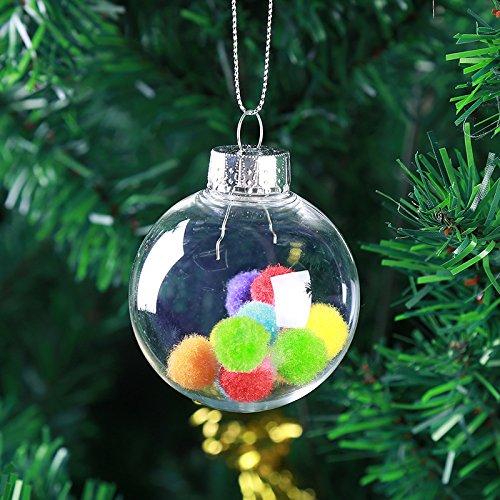 PANGUN Weihnachten 2017 Clear DIY Baubles Bruchsichere Nahtlose Plastikkugel Haus Baum Dekor Geschenke-10CM
