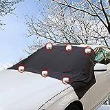 FEZZ Auto Frontscheibe Windschutzscheibe Eisschutz Schneeabdeckung mit Seitenspiegelabdeckung gegen Schnee EIS Frost Sonnen Magnetisch Größe 210 * 120cm für Auto SUV Truck