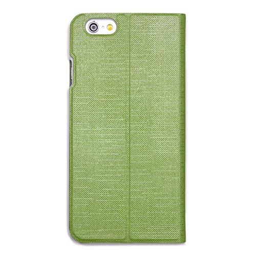 URCOVER Coque Portefeuille Ultra Fin pour Apple iPhone 6 6S Plus | Cover Dure á Pochette en Orange | Housse Étui avec Rabat - Support - Slot Cartes Vert