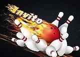 Edition Colibri 10 inviti per Festa di Compleanno; Motivo: Bowling / inviti di Compleanno per Bambini / in Italiano (10694 IT)