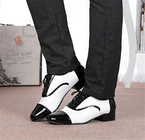 TMKOO 2017 nuovi uomini in pelle-scarpe da ballo internazionali-scarpe da ballo latino-ballo quadrato-ballo sociale-Tango standard internazionale Black and White