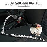 Hunde Sicherheits Gurt fürs Auto , Topist Verstellbarer Ruckdämpfer Sicherheit Auto Sicherheitsgurt für Hunde mit elastischer , Nylon 55 bis 75 cm Einstellbar – 2er Pack - 3