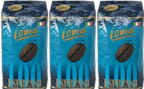 "Ionia Kaffee Espresso Bohnen\""100{d178417b0282f99f90e87491c4cef95d3f0ea337cd2b49b63882ae3a03c83648} Espresso\"" (3 X 1000g)"