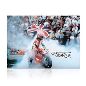 Carl Fogarty Signed Superbikes Photo