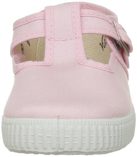 Victoria Sandalia Hebilla Lona, Chaussures à lacets mixte enfant Rose (Rosa)