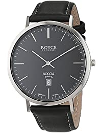 Boccia Herren-Armbanduhr Analog Quarz Leder 3589-02, Schwarz