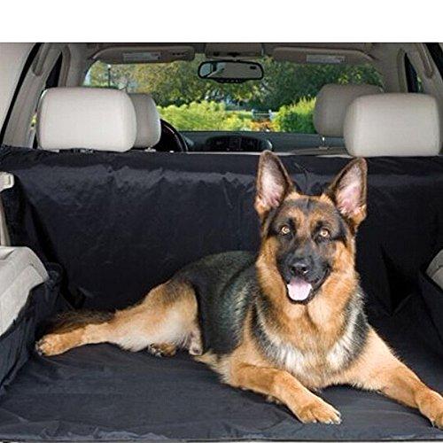 Besmall 120x148cm Kofferraum Schutzdecke Autoschondecke Hundedecke Kofferraum-Schondecke Kofferraumschutz Tierdecke(Schwarz)