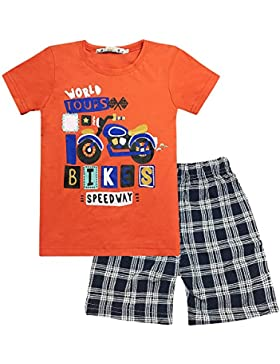 Yilaku Niño Camisetas de Manga Corta y Pantalones Cortos 2pcs Chicos Ropa Sets Niños Dibujos Animados
