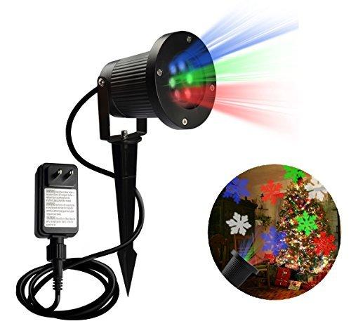 Partei Projektion Lichter LED Projektor Licht Wasserdicht Innendekoration Weihnachten Schneeflocke Muster Scheinwerfer Wand (Spa-thema-partei)