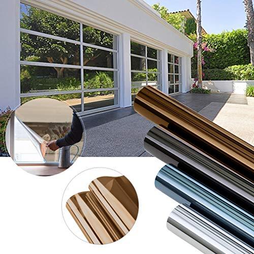 KINLO 300 x 75cm Spiegelfolie Sonnenschutzfolie Ohne Kleber für Fenster Sichtschutzfolie aus PVC 99{ef0d4e374982b4e495b43988f55f418cfc6c2684a897696b1aa9be3b88851427} UV-Schutz Privatsphäre Glas Fensteraufkleber Fensterfolie (Dunkel Kaffe)