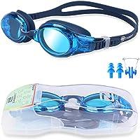 ZABERT Schwimmbrille, Anti-Beschlag, UV-Schutz, wasserdicht, Unisex, auch für Kinder 8+ Jahren und Jugendliche geeignet