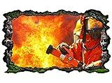 3D Wandtattoo Feuerwehrmann Feuer Feuerwehr F...Vergleich