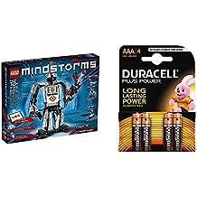 LEGO Mindstorms - EV3, juguete electrónico (31313) + Duracell Plus Power Pilas Alcalinas AAA, paquete de 4
