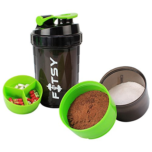 Protein Shaker Compartment: Buy FITSY 500 Ml Protein Shaker Gym Bottle With 2 Storage