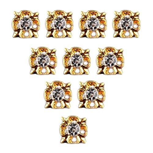 MagiDeal 50pcs Diamant Glitter 3D Nail Art Tips Sticker à Ongles Décoration Charms Pour Manucure - #E