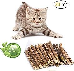 Umiwe Matatabi Katze kausticks, Katzenminze Sticks Katze Reinigung Zähne Bio Spielzeug natürliche Pflanze Kauen Sticks Katze Zähne Reinigung Kauspielzeug
