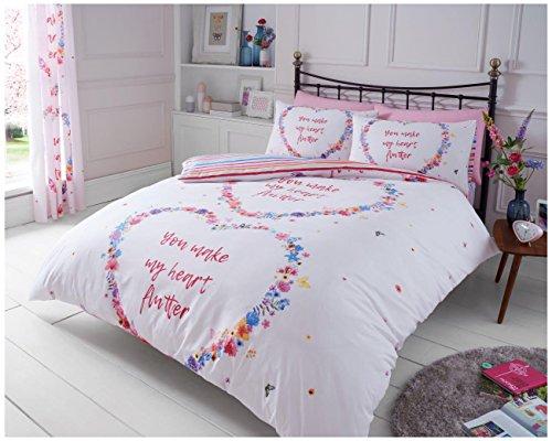 Gaveno Cavailia Luxuriöse Flutter Set mit Bettbezug und Kissen, Polyester-, Multi, King