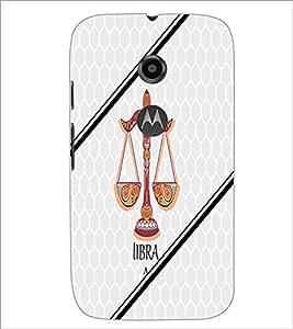 PrintDhaba Zodiac Libra D-3349 Back Case Cover for MOTOROLA MOTO E2 (Multi-Coloured)