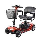 Elektro-Scooter mit 4 Rädern, 180 W, verringerte Mobilität, mit medizinischem Fahrstuhl. rot