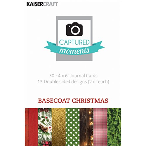 kaisercraft-paper-captured-moments-double-sided-cards-6-inch-x-4-inch-30-basecoat-christmas