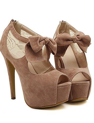 WSS 2016 Chaussures Femme-Habillé / Soirée & Evénement-Poil de Chameau-Talon Aiguille-Bout Ouvert-Sandales-Polyuréthane camel-us6 / eu36 / uk4 / cn36