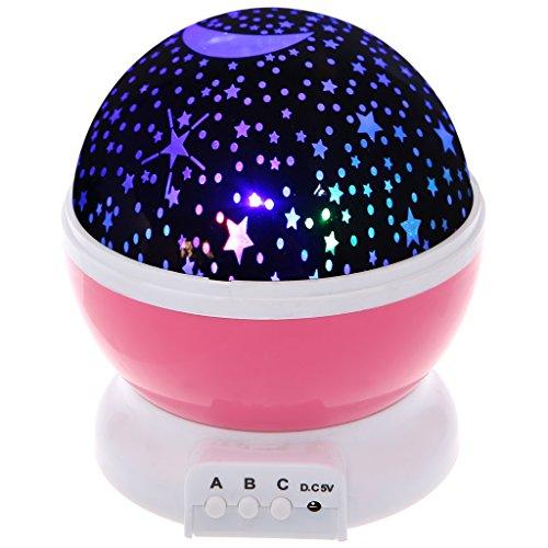 Kalttoy Neue Generation 360° LED Starlight, Sternenlicht Projektor Sternen Einschlafhilfe Baby Nachtlicht für Kinder (Rosa)