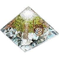 Orgonite - Orgonite Pyramid Larimaar + Peridot + Selenite 3-3.5 Inch Chakra & Reiki Healing Aura Cleansing Crystal. preisvergleich bei billige-tabletten.eu