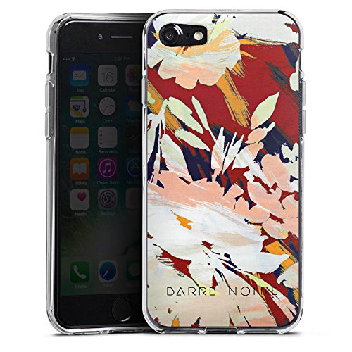 Apple iPhone X Silikon Hülle Case Schutzhülle Blumen Muster Blume Silikon Case transparent