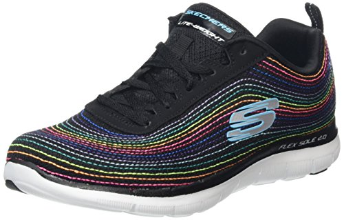 skechers-flex-appeal-2-friendship-baskets-basses-femmes-noir-bkmt-noir-multicouleur-39-eu