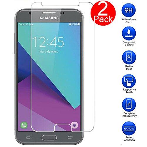MaxKu Samsung Galaxy J3 2017 Schutzfolie, [2 Stück] Glasfolie Hartglas 9H Hardness Panzerglas Displayschutz Anti-Kratz Displayschutz für Samsung Galaxy J3 2017
