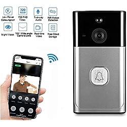 Sonnette sans Fil Extérieur, ZEEPIN Sonnette WiFi Caméra pour Maison Bureau