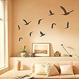 Gaviotas Juego de 10adhesivos de pared vinilo–playa decoración de la pared–pájaro etiquetas de la pared (pequeño, gris)
