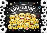 JuNa Party-Experten 12 Einladungskarten Kindergeburtstag Jungen Fussball Geburtstag Jungs Mädchen Geburtstagseinladungen Einladungen Geburtstagsparty Kartenset