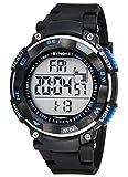 Sport Orologio da Polso per Uomo Orologio Digitale con Calendario Allarme Cronometro e Luminoso Impermeabile fino a 50 Metri - Nero-blu